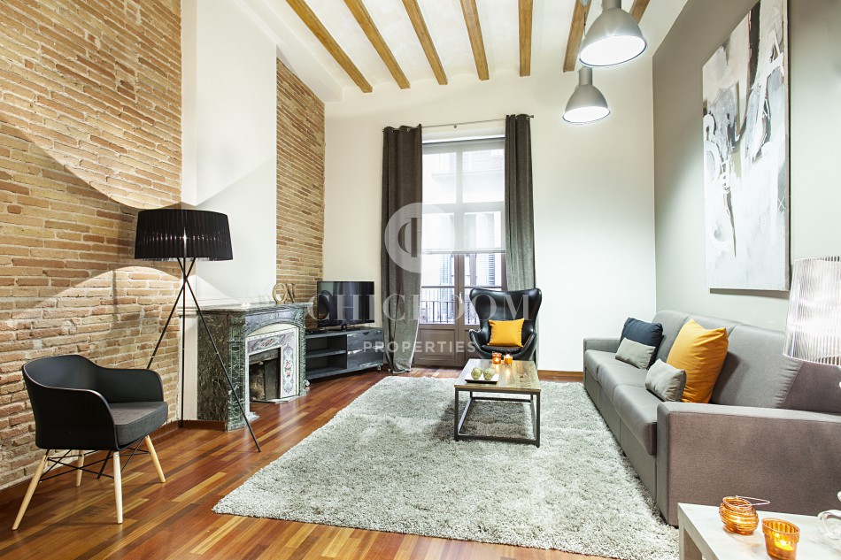Furnished loft apartment for rent in Barcelona