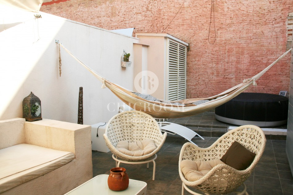furnished duplex for rent mid term in Barcelona