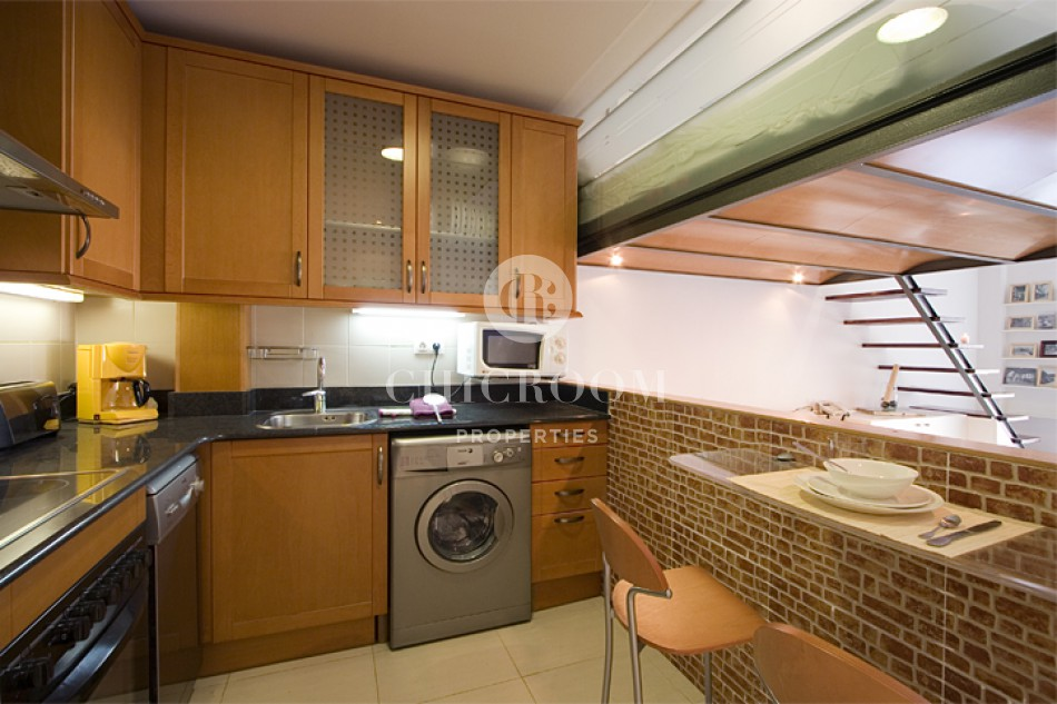 furnished studio for rent in the Raval Barcelona