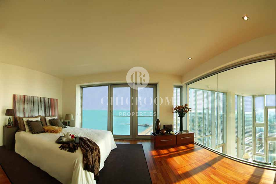 Mid and long term apartment for rent with sea views in Diagonal Mar Barcelona