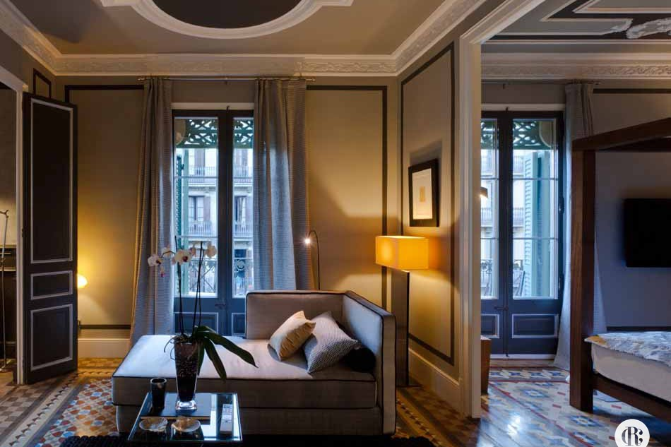 luxury furnished 2 bedrooom apartment for rent in barcelona eixample