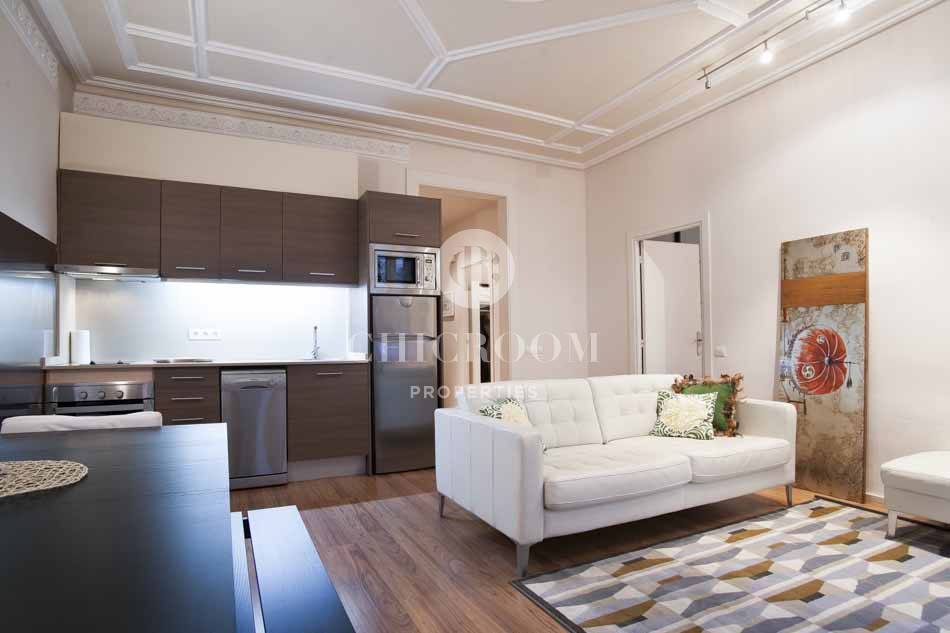 2 bedroom furnished apartment for rent Eixample with Wifi