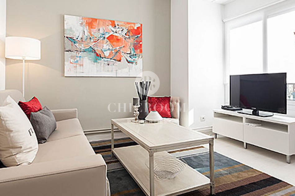 furnished 2 bedrooms apartment for rent in sants montjuic