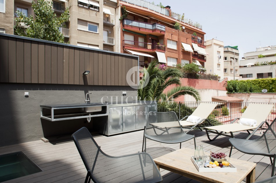 Furnished loft for rent Sarria terrace
