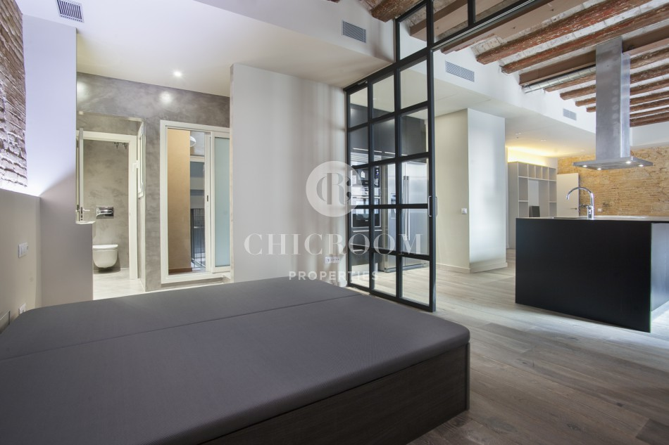 bedroom loft for rent with terrace in the raval