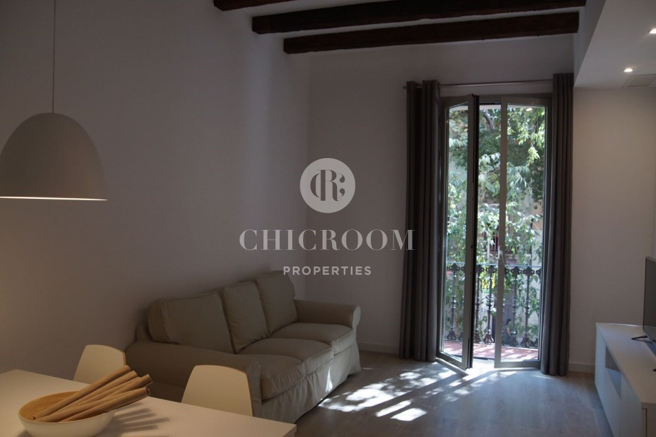 3 Bedroom apartment for rent Eixample balcony
