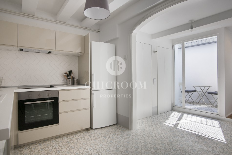 4 bedroom flat to let Eixample terrace
