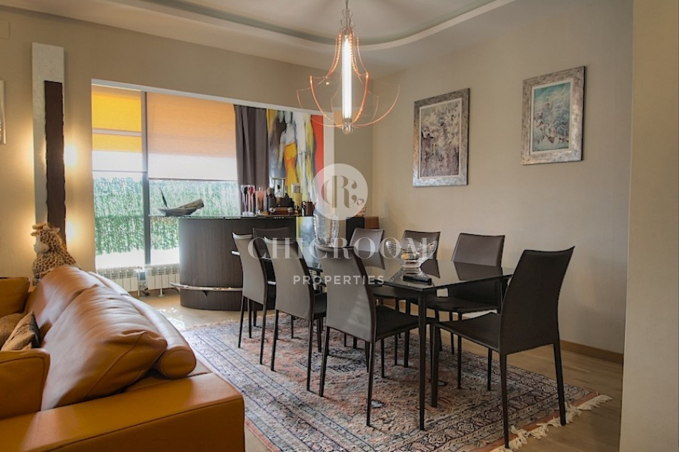 5 bedroom furnished penthouse for rent in Pedralbes pool