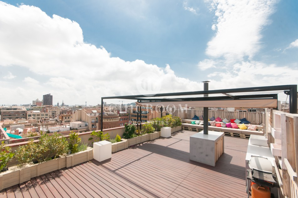 Furnished penthouse for rent Eixample Barcelona