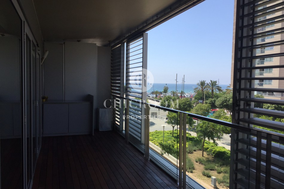 Unfurnished 3 bedroom apartment for rent terrace Diagonal Mar