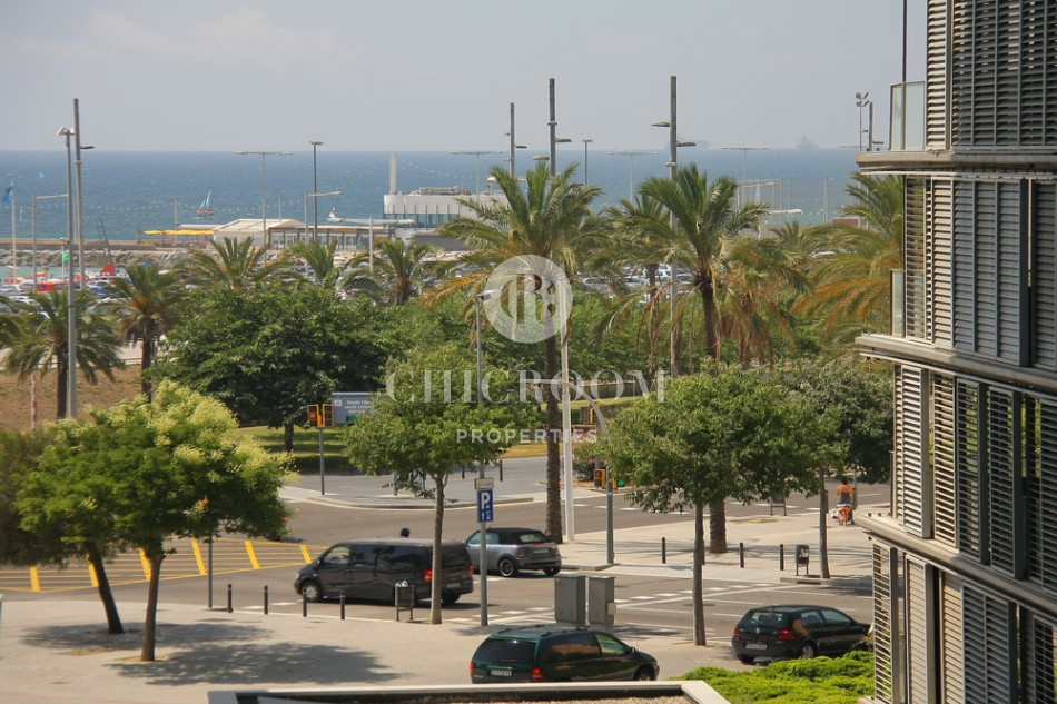 Excellent 2-bedroom beachfront apartment for rent in Diagonal Mar