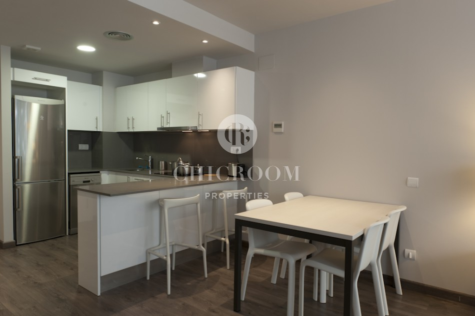 1-bedroom furnished apartment for rent with parking in Eixample