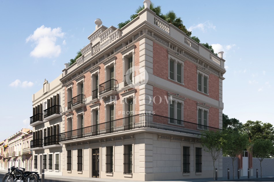 New apartment with pool for sale in Gracia in Barcelona
