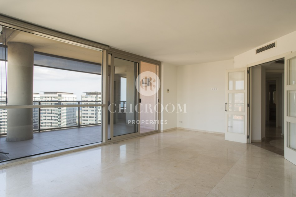 3-bedroom unfurnished apartment for rent in Diagonal Mar Barcelona
