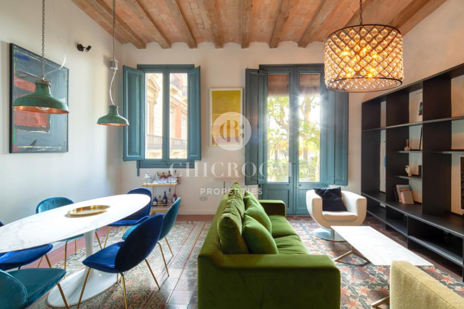 Stylish 2-bedroom apartment for rent in Gothic Quarter Barcelona