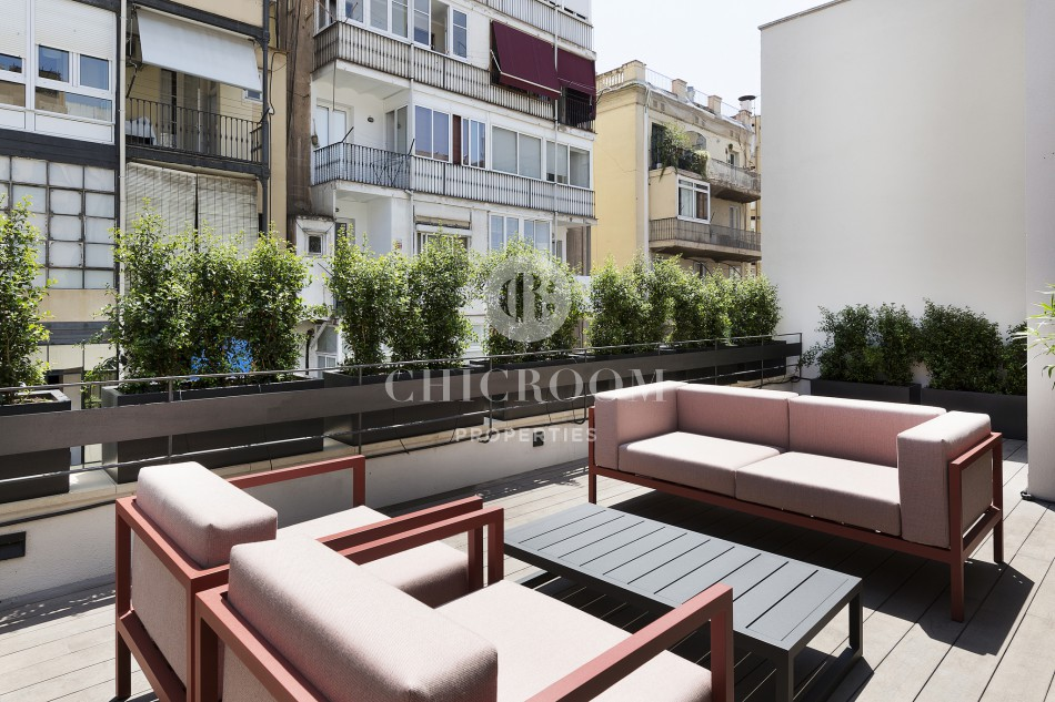 1-bedroom penthouse for rent in Eixample Barcelona