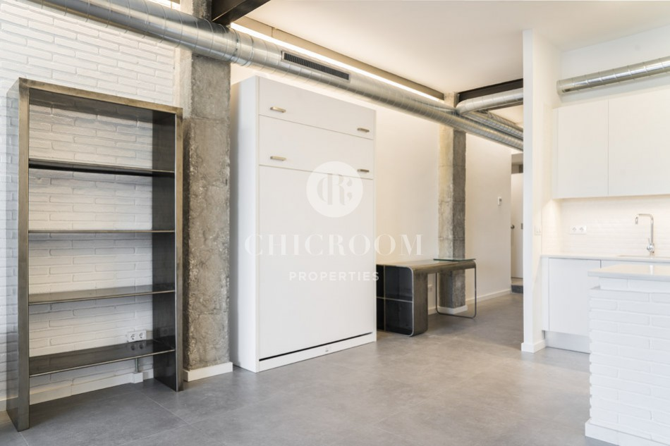 1-bedroom loft apartment for rent in Poblenou Barcelona