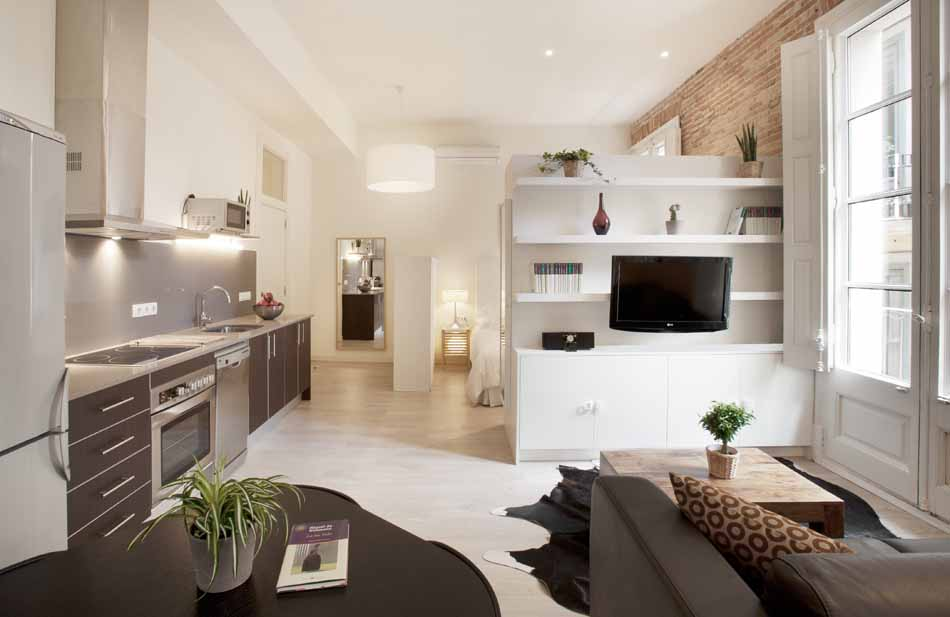Furnished studio apartment for rent in gothico barcelona - Apartamentos dv barcelona ...