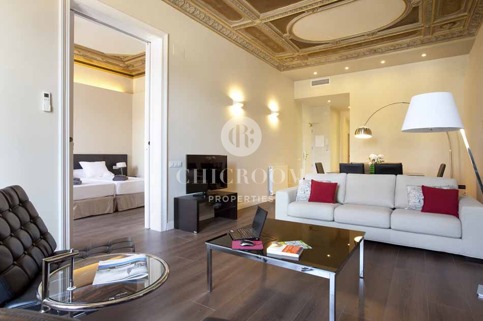 Furnished 3 bedroom apartment for rent in barcelona harbour for Furnished room