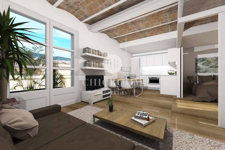 1 bedroom apartment with terrace for sale in the raval for Terrace in apartment