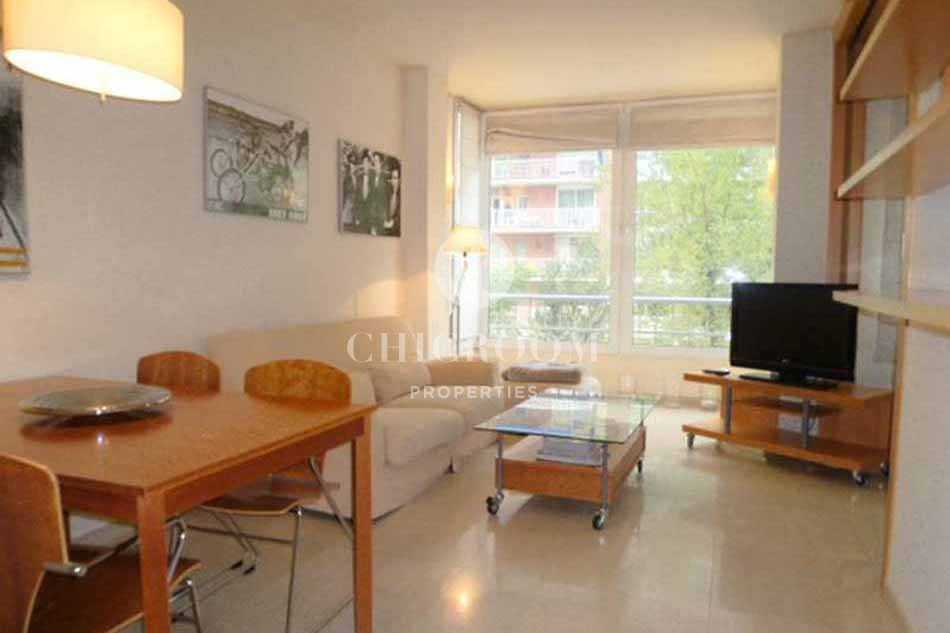 Furnished 1 bedroom apartment for rent pedralbes for Furnished room
