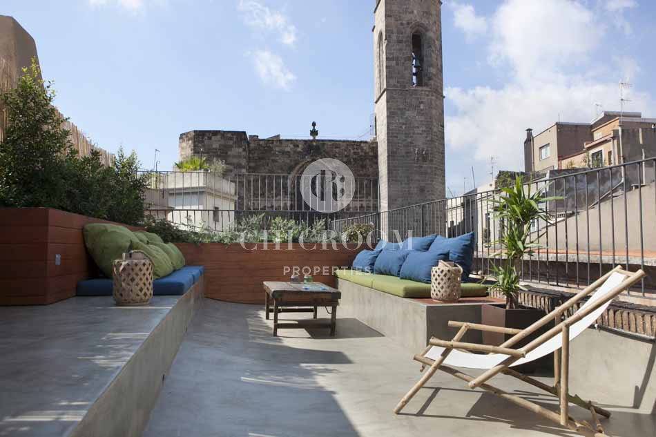 Furnished 1 bedroom apartment with terrace in the gothic for Terrace in apartment